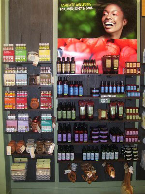 The Body Shop has a wide network of shops selling cruelty-free products throughout South Africa