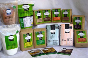 Entice have a great range of rice flours and milks, as well as non-dairy creamer