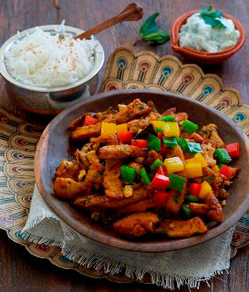 Meat-free Chicken Karahi