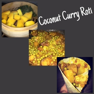 Coconut Curry Roti