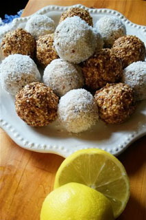 Lemon, Coconut, Sesame Baobab Bliss Balls by Cierewyn Small