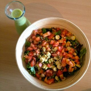 Sweet mustard salad dressing - raw vegan