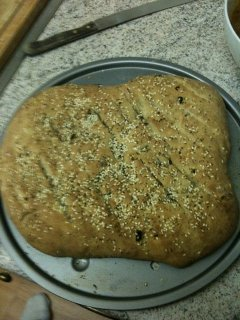 Chilli, walnut and cashew nut ciabatta bread